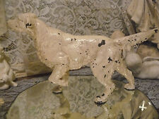 Antique Hubley ? Setter Retriever Pointer Hunting Dog Doorstop Statue Cast Iron