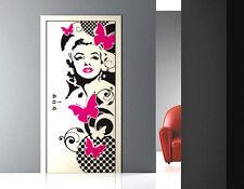 00145 Wall Stickers Porta Marilyn Monroe pop art carta parati 80x210 cm