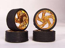 Hoppin Hydros 1/24 1/25 scale Gold Triton Slim 20's Model Car Rims Wheels Tires