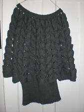 NWOT Deep Gray shrug looking sweater women Medium Large Wool blend by Verse