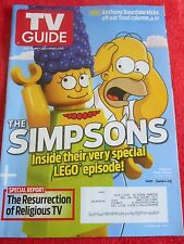 TV GUIDE APRIL MAY 2014 THE SIMPSONS SPECIAL LEGO EPISODE ANTHONY BOURDAIN