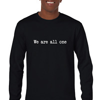 We Are All One Unity World Peace Black Mens Cotton Long Sleeve T-shirt S-5XL