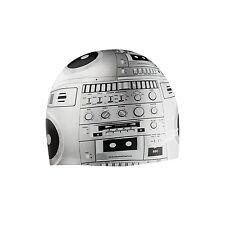 SPEEDO Silicone STREET DJ Cap SWIMCAP EDM MUSIC Black Grey Swimming 7510218 NEW