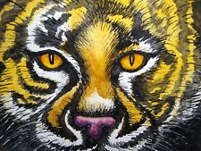 Watercolor Painting Tiger Big Cat Wild Animals Nature Aceo Art