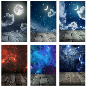 OuterSpace Wood Floor Photography Background Studio Photo Backdrop