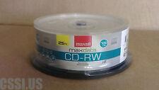 25 Pack Maxell CD-RW Blank Media Disks Discs Rewritable