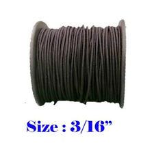 "3/16"" x 30 Ft Premium Marine Grade Bungee Shock Stretch Cord UV Black 10 Yards"