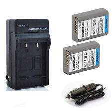 Battery (2) + Quick Charger for Olympus OMD EM5,OM-D E-M5 Mark II Digital Camera