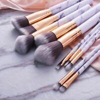 10pcs Marbling Kabuki Professional Make-up Brush Set Brushes Powder Blusher