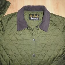 MENS HERRITAGE BARBOUR LIDDESDALE LIGHTWEIGHT KHAKI QUILTED JACKET COAT XL