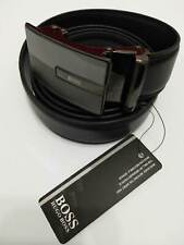 BS04 BLACK LEATHER MAN BELT 52''  AOTUMATIC BUCKLE SHIPPING WITH TRACKING NUMBER