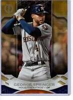 George Springer 2019 Topps Tribute 5x7 Gold #53 /10 Astros