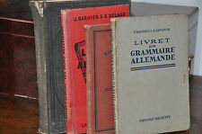 Lot de 6 manuels scolaires en allemand, dont Jugendfreund 1883.+ Herderes