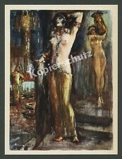Lutz Honor Berger WOMAN NUDE DANCER HAREM NUDE NAKED EROTIC Orient Fetish 1925