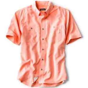 Orvis Tech Chambray Short-Sleeved Work Shirt Coral Reef 2KZ94254 New NWT XL $79
