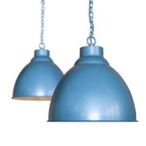 Oxford Vintage Pendant Light Aston Blue - Soho Lighting