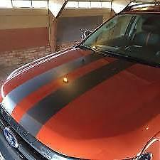 "CHARCOAL GREY Twin Body Stripes Viper Cobra 4m(13')x15cm(6"") fits HONDA"