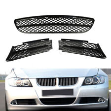 Set Front Lower Bumper Grilles Outer & Center For BMW 3 SERIES SEDAN WAGON 06-08