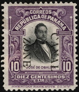 Canal Zone - 1909 - 10 Cents Violet & Black Overprinted Panama Issue # 30 Mint