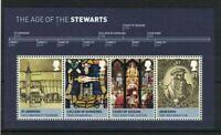 GB539) Great Britain 2010 House of Stewart Minisheet - Scottish Monarchs MUH