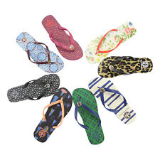 f4a0bee6c7ba3 New Tory Burch Logo Rubber Sandals Flip Flops Many Prints and Colors