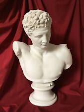 Greek God Marble Bust Statue - Hermes (Mercury) Bust Sculpture (Large)