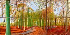 "David Hockney: woldgate-woods- CANVAS  30"" X 16"""