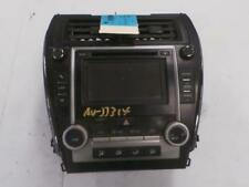 TOYOTA CAMRY CD PLAYER, TOUCH SCREEN, P/N ON FACE 100035, ACV50, 12/11-04/15