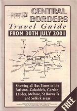 Bus Timetable - Central Borders Scotland Jul 2001 - First Borders PostBus McCall