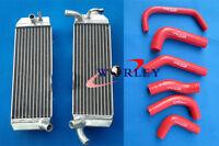 For Honda XR650 XR650R 2000-2007 01 02 03 04 05 06 Aluminum Radiator & RED Hose