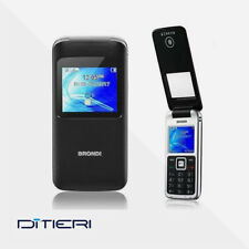 CELLULARE BRONDI Window DUAL SIM Fotocamera FLIP ATTIVO Radio Bluetooth NERO