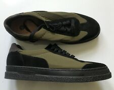 H by Hudson London - MENS Trainer Shoes - Size 9 - Green Canvass and Black Suede