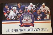 2014-15 NY Islanders FULL REGULAR SEASON TICKETS Stub Book MINT Complete 42 Tix.