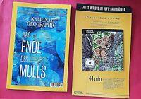 National Geographic 03/2020 Das Ende des Mülls + DVD Baumlöwen  ungelesen
