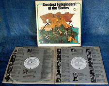 GREATEST FOLKSINGERS OF THE 'SIXTIES - VANGUARD - 2 LP SET - WHITE LABEL PROMO