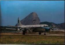 (xbm) Airplane Postcard: Varig, Lockheed L-188