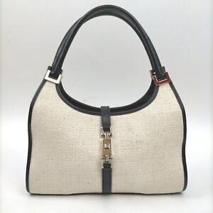 Gucci Hand Bag  Whites Canvas 1713794