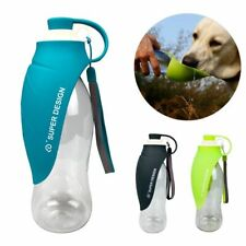 Pet Water Dispenser 580ml Portable Soft Silicone Leaf Design Dog Drinking Bottle