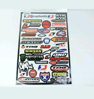 Top 43 Teilig - Motorrad Sponsoren Aufkleber - Set size 45x30. OLEMOTO