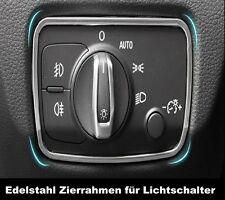 Für Audi A3 8V 2012-2015 S-line Edelstahl Lichtsschalter Zierblenden Ringe ~53