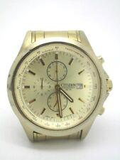 Mens Citizen Watch Chronograph Gold Steel Genuine AN3512-54P  (666)