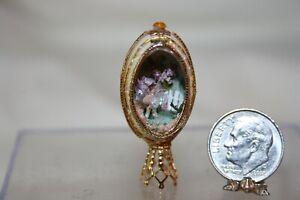 Miniature Dollhouse Panoramic Egg Diorama Figurine Tiny Fairy in Garden 1:12 NR