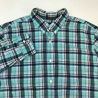 American Eagle Outfitters Button Up Shirt Mens 2XL Long Sleeve Plaid Classic Fit