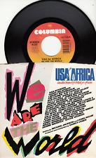 MICHAEL JACKSON/BOB DYLAN/BILLY JOEL/STEVIE WONDER - WE ARE THE WORLD - 45 WPS