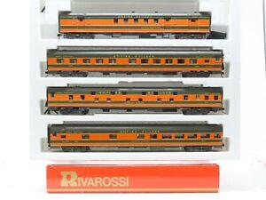 "HO Scale Rivarossi GN Great Northern ""Empire Builder"" 4-Car Passenger Set"