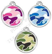 Camouflage Enamel/Solid Stainless Steel Engraved ID Dog/Cat Tag
