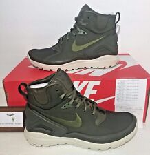 NIKE MENS SIZE 11 NIKELAB KOTH ULTRA MID SI STONE ISLAND ARMY GREEN BOOTS w/ bag