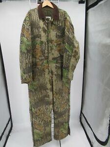 K7596 VTG Duxbak Men's Real Tree Camo Hunting Coveralls Size XL