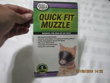 New listing Cat Muzzle Four Paws Quick-Fit For Small Cats Nylon Black New In Pkg.