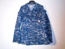 USN US NAVY WORKING UNIFORM NWU TYPE II COAT BLUE BERRY LARGE LONG 2008 C-12